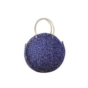 Τσάντα SEAGRASS χειροποίητη στρογγυλή Μπλε NBC.003