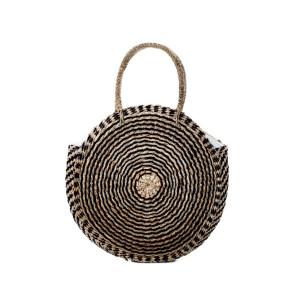 Τσάντα SEAGRASS χειροποίητη στρογγυλή με ραβδώσεις NB.033