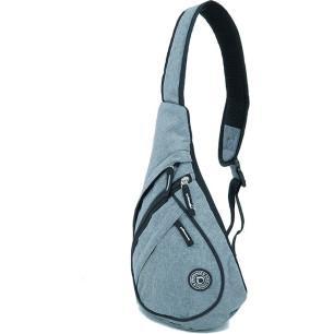 Τσαντάκι ανδρικό ώμου χιαστή (body bag) 40Χ27Χ15cm DIPLOMAT BF27 γκρι