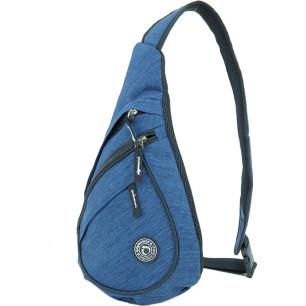 Τσαντάκι ανδρικό ώμου χιαστή (body bag) 40Χ27Χ15cm DIPLOMAT BF27 μπλε