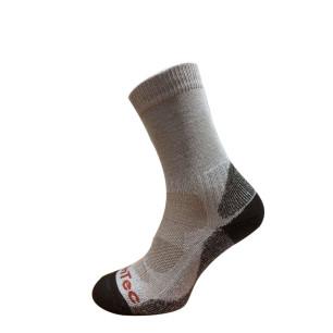 Τεχνικές κάλτσες ALPIN TEC BAMBOO TREKKING καφέ/μπεζ