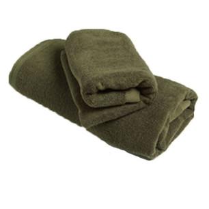 Πετσέτες σετ 2 τμχ, χακί (σώματος και προσώπου) Νο Τ-512