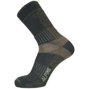 Τεχνικές κάλτσες ALPIN TEC TREKKING καφέ/μπρονζέ