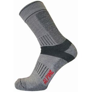 Τεχνικές κάλτσες ALPIN TEC TREKKING γκρι-ανθρακί