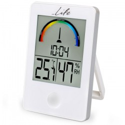 Life iTemp White Thermometer/hydrometer with clock WES-101