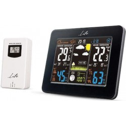 Life Rainforest Weather station with adaptor and wireless outdoor sensor clock and alarm function WES-300