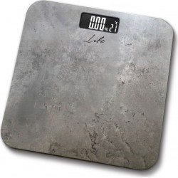 Life Fitness Bathroom scale with temperature and marble surface