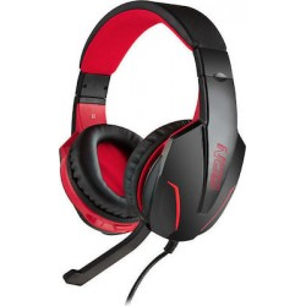 OD GROUND POUNDER G-HDS-001 Gaming Headset Με Ρυθμιζόμενο Σε Κλίση Μικρόφωνο, Σε Μαύρο Χρώμα Και Κόκκινο LED Φωτισμό