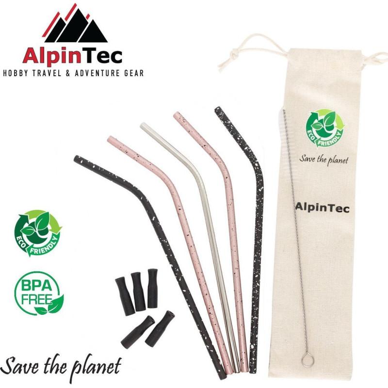 Alpintec S-02 Καλαμάκια Πολύχρωμα σετ 5τμχ