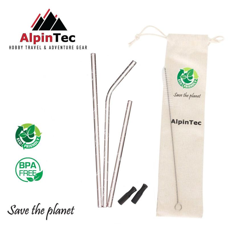 Alpintec S-04-2 Καλαμάκια Ροζ σετ 3τμχ