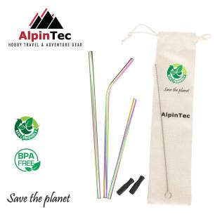 Alpintec S-04-3 Καλαμάκια Πολύχρωμα σετ 3τμχ