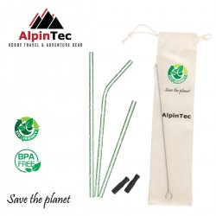 Alpintec S-04-4 Καλαμάκια Τυρκουάζ σετ 3τμχ
