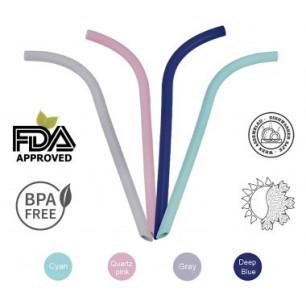 ΚΑΛΑΜΑΚΙΑ ΣΙΛΙΚΟΝΗΣ Grey Eco Friendly Medical Grade Silicon BLUE