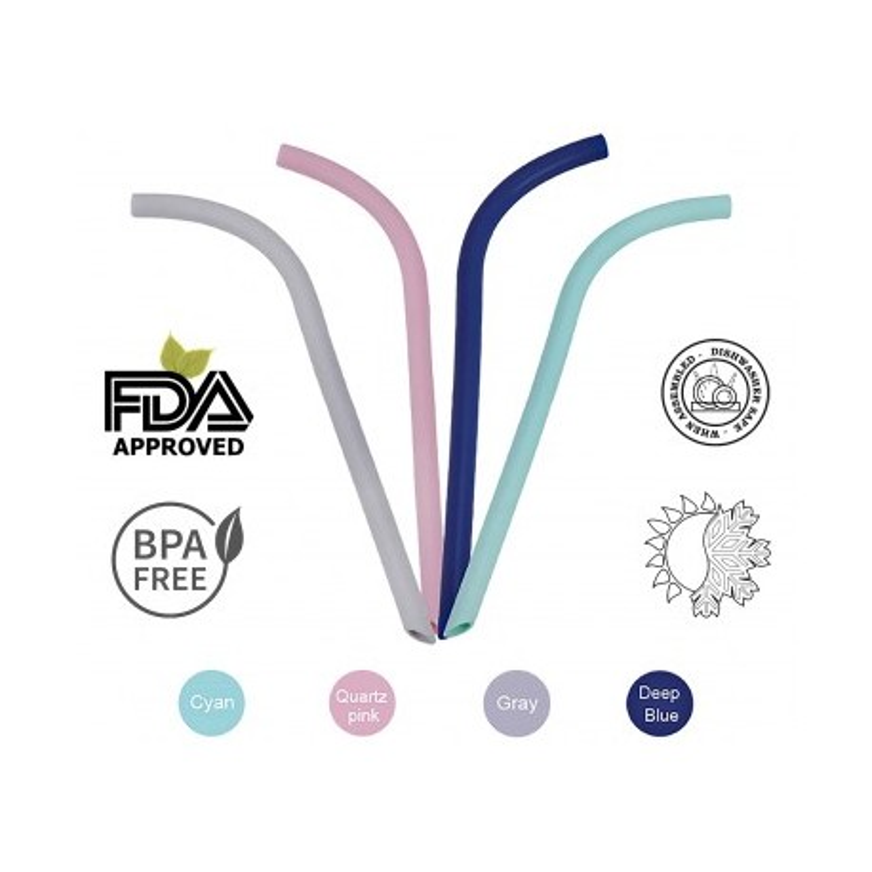 ΚΑΛΑΜΑΚΙΑ ΣΙΛΙΚΟΝΗΣ Grey Eco Friendly Medical Grade Silicon PINK